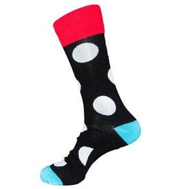 Davco Mens Daring Dots Dress Socks Black