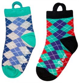 Kids EZ Sox 2 Pair Pack Argyle Socks