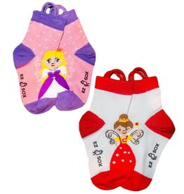 Kids EZ Sox 2 Pair Pack Princess & Fairy Socks