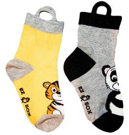 Kids EZ Sox 2 Pair Pack Panda & Tiger Socks