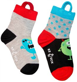 Kids EZ Sox 2 Pair Pack Monster Polka Dots Socks