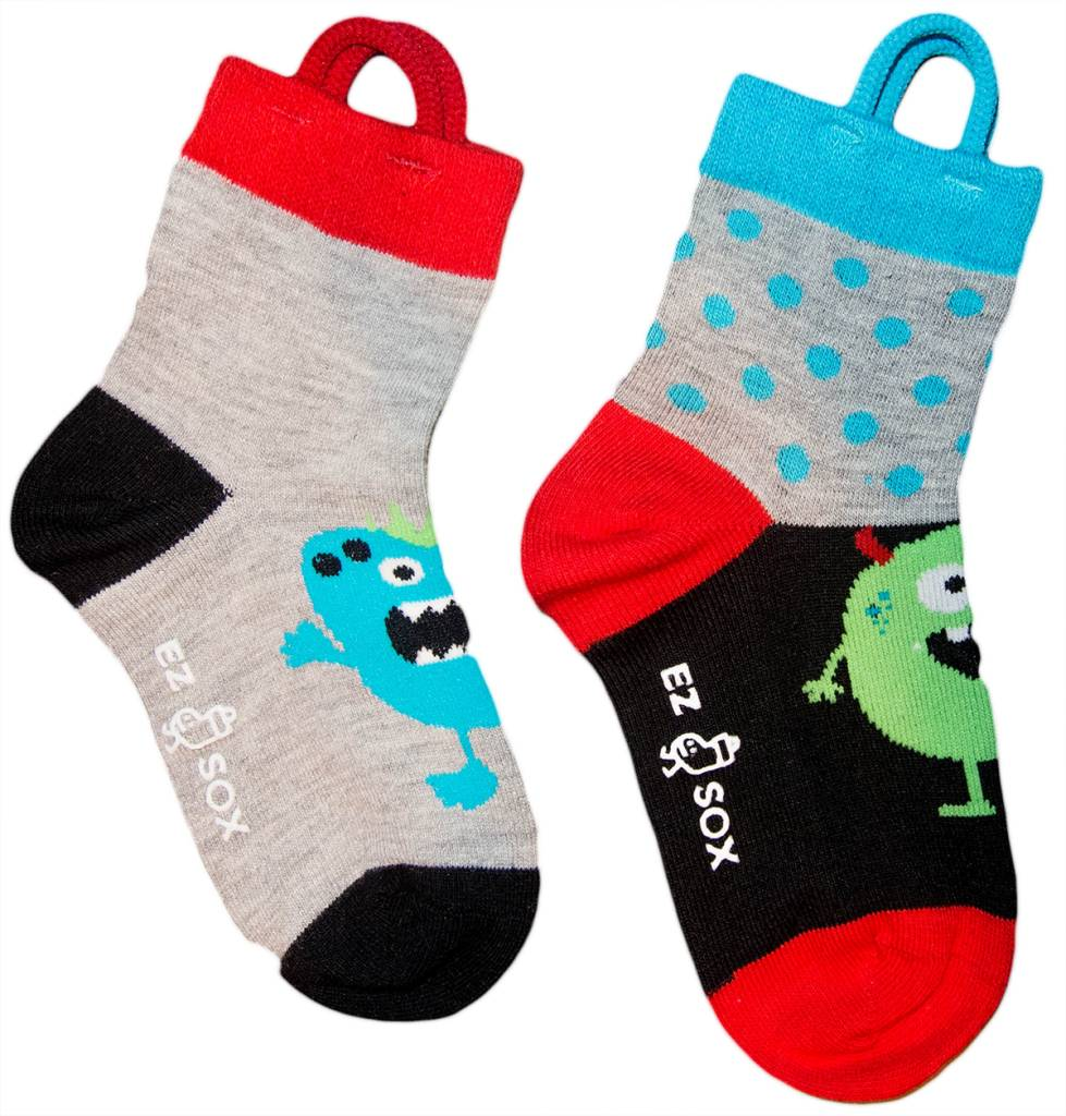 Kids EZ Sox 2 Pair Pack Monster Polka Dots Socks - The Sox Market