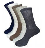 Mens Diabetic Loose Fit Crew Socks 3-Pack