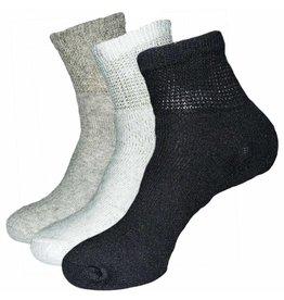 Creswell Sock Mills Mens Diabetic Loose Fit 1/4 Top Socks Three Pack