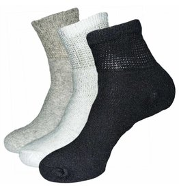 Mens Diabetic Loose Fit 1/4 Top Socks Three Pack
