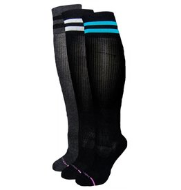 Dr. Motion Women's Compression Socks: Premium Cotton Sport Stripe Socks