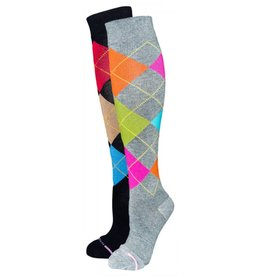 Dr. Motion Women's Compression Argyle Socks
