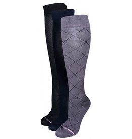 Dr. Motion Women's Compression Socks: Diamond Pattern