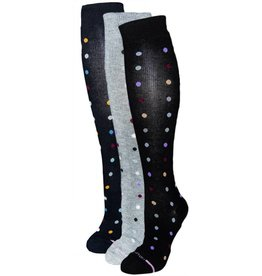 Dr. Motion Women's Compression Socks Dancing Dots