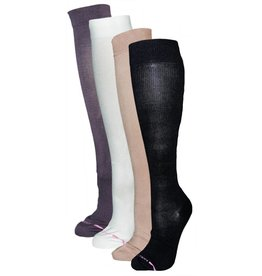 Dr. Motion Women's Compression Micro Nylon Sock: Solid Color