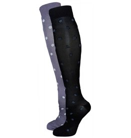 Dr. Allay Women's Polka Dot Compression Lite Support Socks