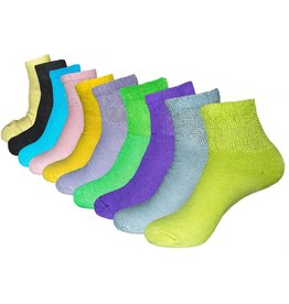 Women's Diabetic Quarter Top Socks