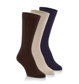 World's Softest Socks Women's Cable Knit Crew Socks