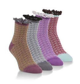 World's Softest Socks Women's Mini Crew Lace Socks