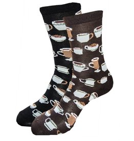 Women's Patterned Coffee Socks