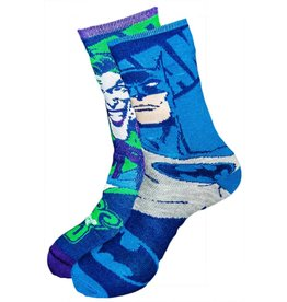 DC Batman and Joker Reversible Crew Socks