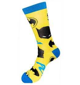 DC Batman Yellow with Logo Crew Socks
