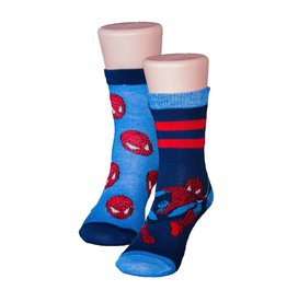 Kids Spider-Man 2 Pack Blue & Navy Socks