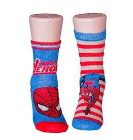 Marvel Kids Spider-Man 2 Pack Blue & Red Socks