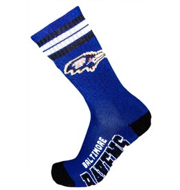 NFL Mens NFL Baltimore Ravens Team Socks  w/Stripes LG