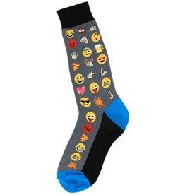 Foot Traffic Mens Emoji Socks
