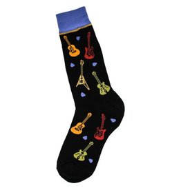 Foot Traffic Mens All Over Guitars Socks