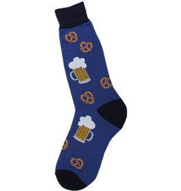 Foot Traffic Mens Beer and Pretzel Socks