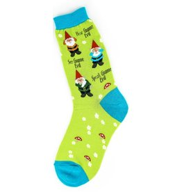 Foot Traffic Womens Gnomes Socks