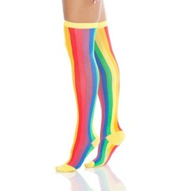 Foot Traffic Womens OTK Vertical Rainbow Stripe