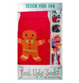 Davco Women's Design Your Own Ugly Gingerbread Man Socks