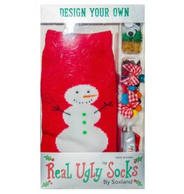 Davco Women's Design Your Own Ugly Snowman Socks