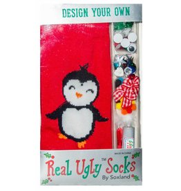 Davco Women's Design Your Own Ugly Penguin Socks