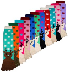 Women's Reindeer Toe Socks