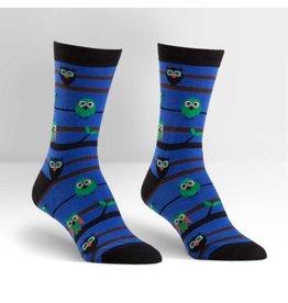 Sock it to Me SITM Women's Crew Owl Watch Socks