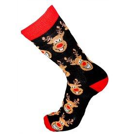 World of Hosiery Mens All Over Rudloph Socks