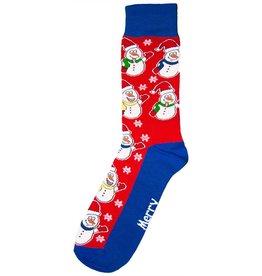 World of Hosiery Mens All Over Snowman Socks