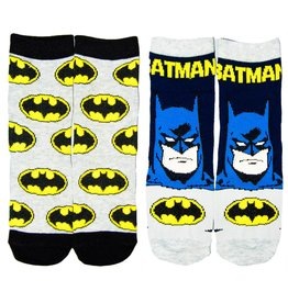 DC Kids Batman Socks 2 Pack Grey