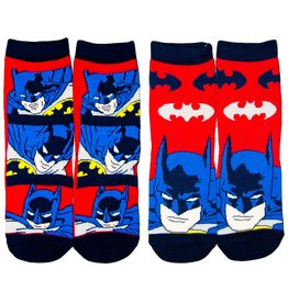 DC Kids Batman Socks 2 Pack Red