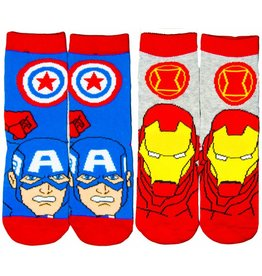 Marvel Kids Avengers Socks Captain America & Iron man 2 Pack