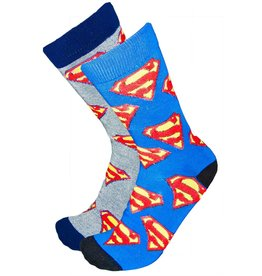 DC Mens Superman Socks All Over Logo