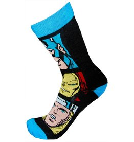 Marvel Mens Avengers Faces Comic Socks