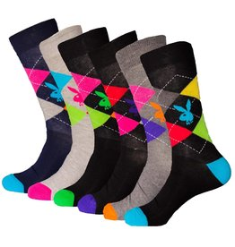 Playboy Mens Argyle Playboy Socks