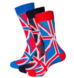 Playboy Mens British Flag Playboy Socks