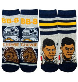 Kids BB-8, Chewie & Finn Socks 2 Pair Pack