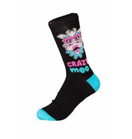 World of Hosiery Womens Crazy Moo Socks