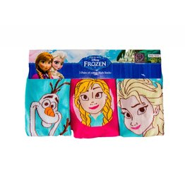 Disney Kids Frozen Socks Blue & Pink 3 Pack
