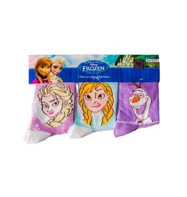 Disney Kids Frozen Socks Purple & Blue 3 Pack
