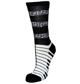 Davco Women's Musical Notes Socks BLACK