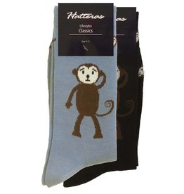Mid Pines Womens Monkey Face Crew Socks