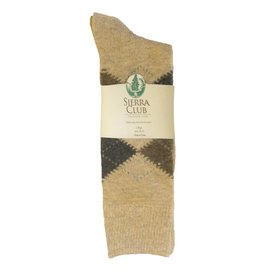 Mid Pines Mens Sierra Club Argyle Merino Wool Socks